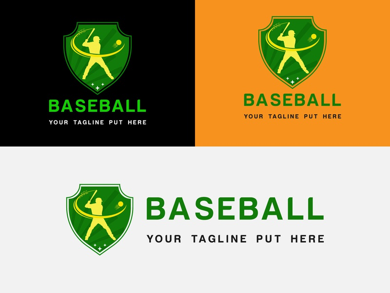 Baseball Logo colorful logo illustration logo for baseball logo baseball symbol baseball icon baseball sports logo branding abstatct logo