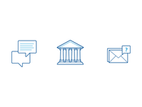 Forums, Online Course, & FAQs icons