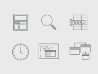 Monochromatic Icons for Web