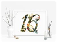 16 Lettering