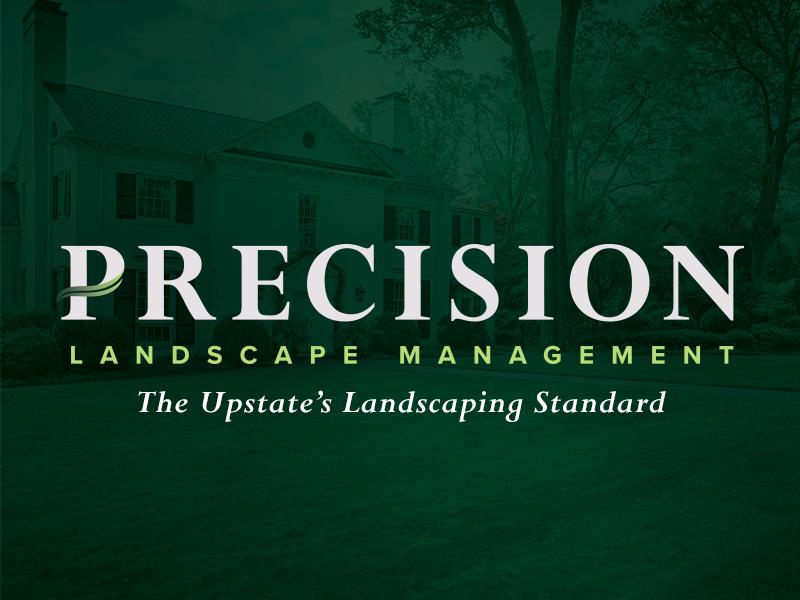 Precision Landscape Management grass hardscape landscape branding lawn care logo