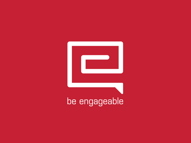 Engageable branding logo chat