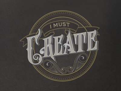 I Must Create create letters type tshirt vector hand lettering custom-type typography