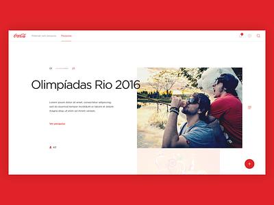 Coca-Cola art direction design ui interface website editorial coca-cola
