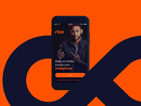 Rico App – Welcome home product digital investment finance android ios mobile marketing start login ux  ui ux design graphic interface motion rico app