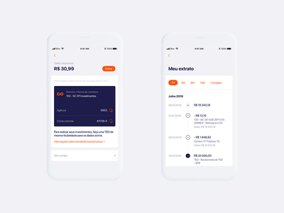 Rico App – Timeline date months android ios card graphic balance account timeline finance ux ui app art direction interface design