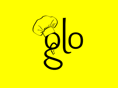 Glo Catering Logo catering chef logo