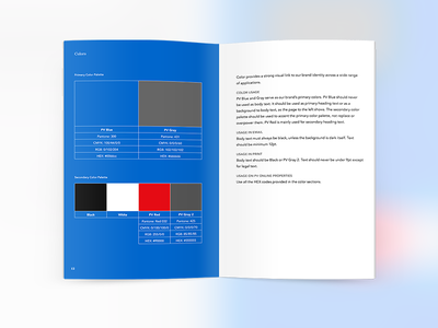 Brand Book - Colors brand book style guide book palette colors