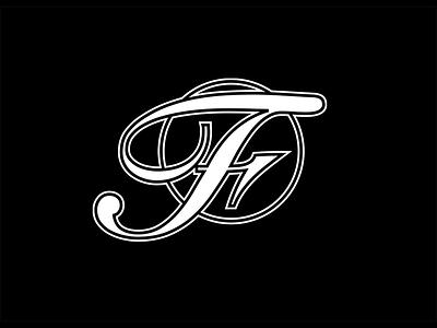 'F' Monogram script monogram letter