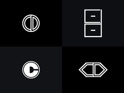 CD Logo Concepts minimal monogram mark logo