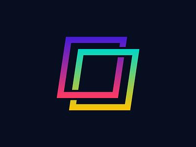 Partnership gradient abstract identity symbol logomark mark logo