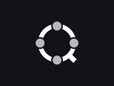 Q logotype letter typography symbol logomark identity mark logo