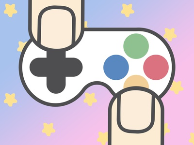 Miniature Video Game Controller logi industry game imagination inclusive inclusion support project technology tech graphic design illustration fun drawing design creative colors artist adobe gaming