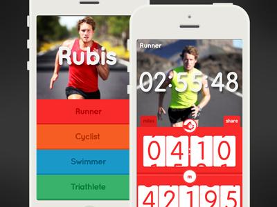 Rubis - Your Personal Best | iPhone app iphone app rubis sports triathlon triathlete runner swimmer cyclist design appstore icon