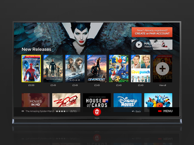 Smart TV App | Wuaki.tv app smarttv tv apps design ui ux movies