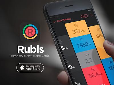 Rubis PRO - The Definitive Training Journal icon appstore design cyclist swimmer runner triathlete triathlon sports rubis app iphone