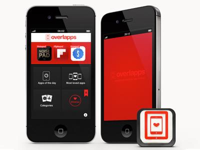 Overlapps iPhone App overlapps iphone app icon ios appstore design