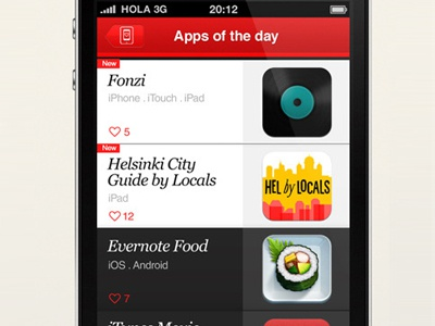 Overlapps iPhone app - 'Apps of the day' iphone itouch app design appstore icons