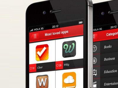 Overlapps iPhone app - 'Most loved apps' iphone itouch app design appstore icons