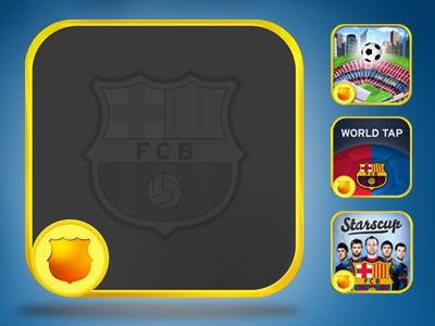 Official FC Barcelona Apps Skin icon design phone ipad android fcbarcelona barcelona football basket