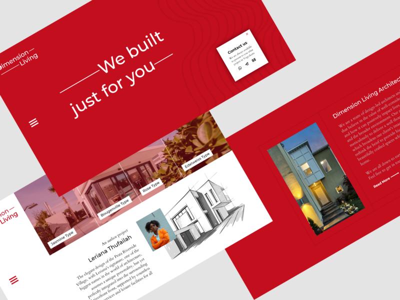 Architectural Landing Page architect building architectural uiux ui webdesign landingpage