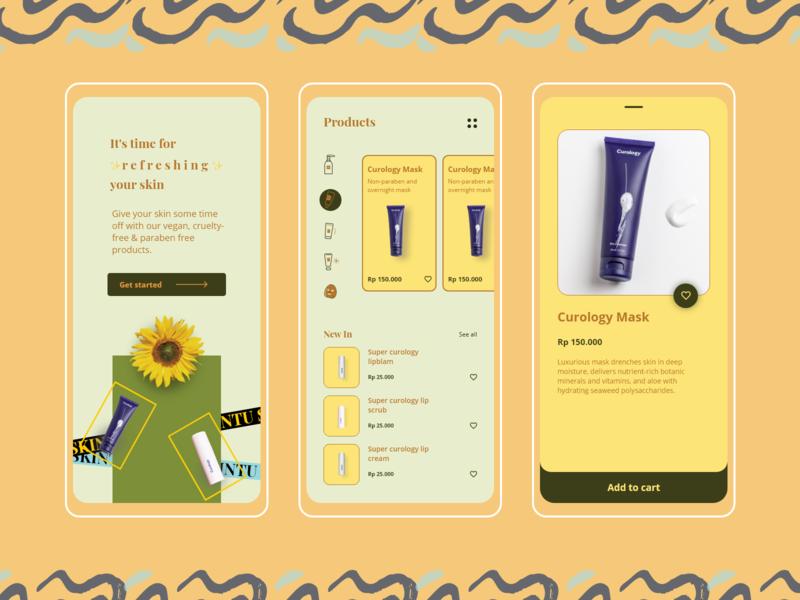 Skincare mobile app mask mobile design mobile ui uiux beauty care health skincare