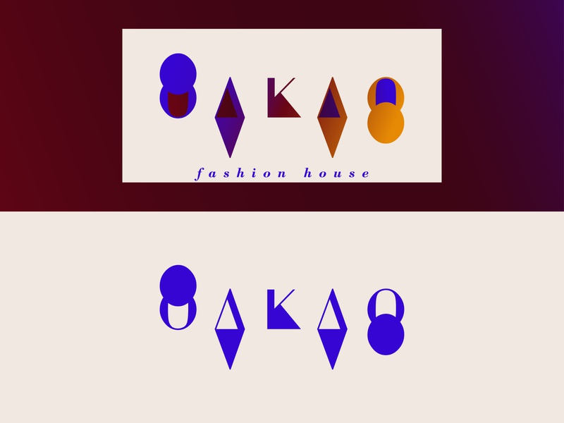 Fashion Brand | Daily Logo Challenge #7 typography clothing label clothing brand geometic house brand fashion oakao day7 branding design logo dailylogochallenge