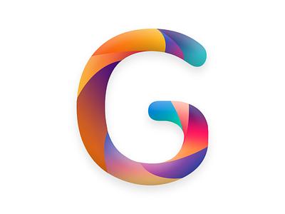 G Music app gradient logo music fitness gorce icon typogaphy modern design minimalist logo logo design logo app design app branding