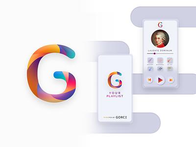 G music app music app music app design typogaphy app vector minimal fitness modern design minimalist logo logo design design logo branding