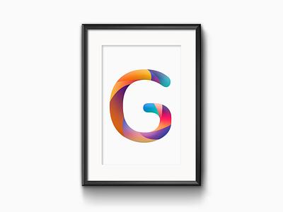 G Music App portrait gradient logo gradient icon minimalist logo app app design typogaphy modern design logo design design branding logo