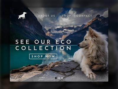Canine online store logos paw dog mountain fashion clothing brand modern design minimalist logo icon ui minimal website design website web logo design design branding logo