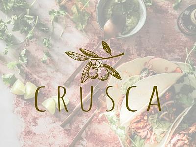 Crusca contentcreation polish italian olive minimalist modern rustic logodesign logo logocreation branding workeveryday project