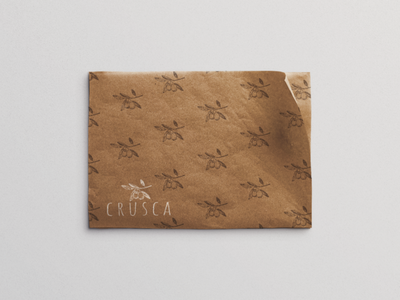 Crusca Wrapping Paper branding logodesign mockup designer wrapping paper italian highend graphic design