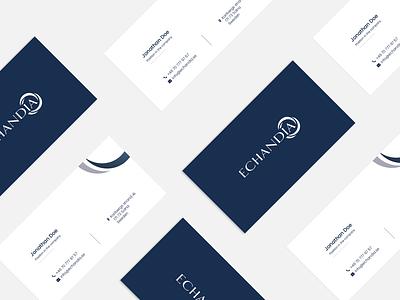 Echandia - Business Cards corporate clean businesscarddesign businesscard card graphicdesign modern design branding