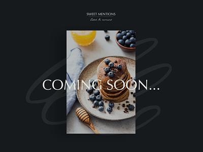 Coming soon Sweet Mentions design brand identity logo logodesign elegant modern clean graphicdesign branding