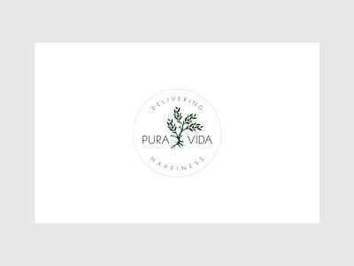 Pura Vida Logo Design graphicdesign logodesign logo elegant branding modern design clean
