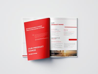 Fifi4Marine - Company Brochure graphicdesign digital elegant modern design clean brochure design brochure branding