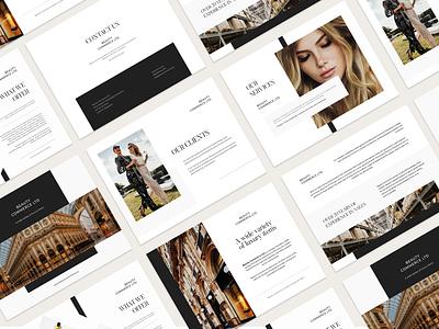 Luxury and Modern Brand Presentation luxury branding luxury design luxury presentation design presentation elegant branding modern design graphicdesign clean