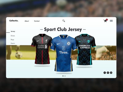 landing page jersey store graphic photoshop design ui minimal ux branding graphic design
