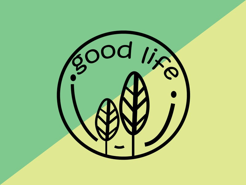 good life LOGO green yellow yellow logo green logo design illustrator colors adobe illustration flat logo ui adobe illustrator