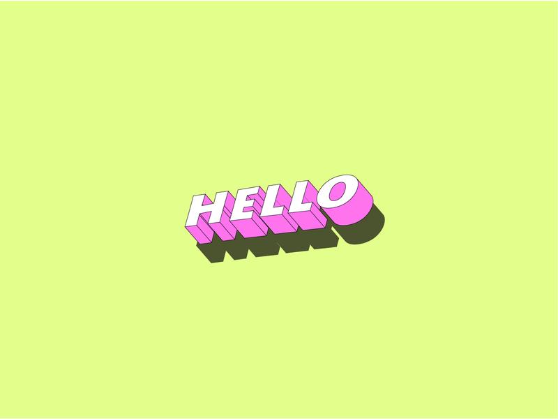 Hello 3d pinky illustrator illustration colors design adobe illustrator adobe pink