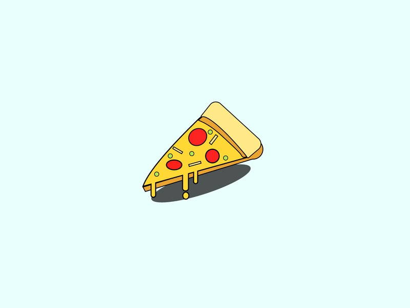 pizza cute yellow flat illustrator illustration design colors adobe illustrator adobe