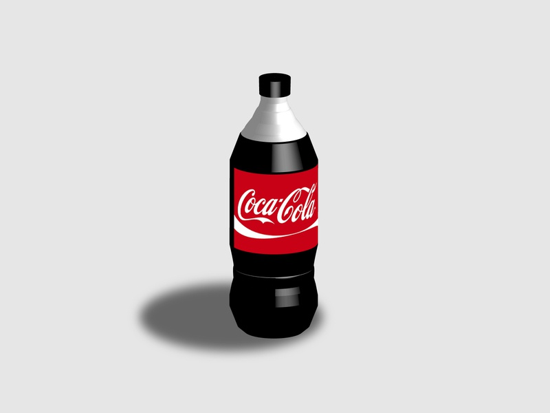 coca-cola 3D 3d illustrator illustration design colors adobe illustrator adobe