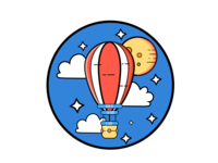Airship red cute yellow illustrator illustration design colors adobe illustrator flat adobe
