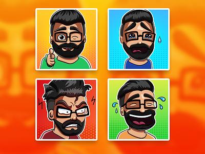 Cool emotes for twitch channel twitchemotes sad twitch emotes warm cute draw vector design illustrator illustration digital