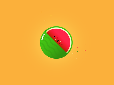 Watermelon tutvid web vector illustration logo