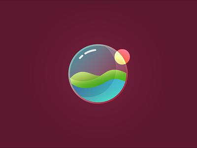 Glass Earth tutvid web vector logo illustration