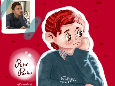 Peter Parker artwork dribble illustration cartoon digital drawing digital illustration digitalart