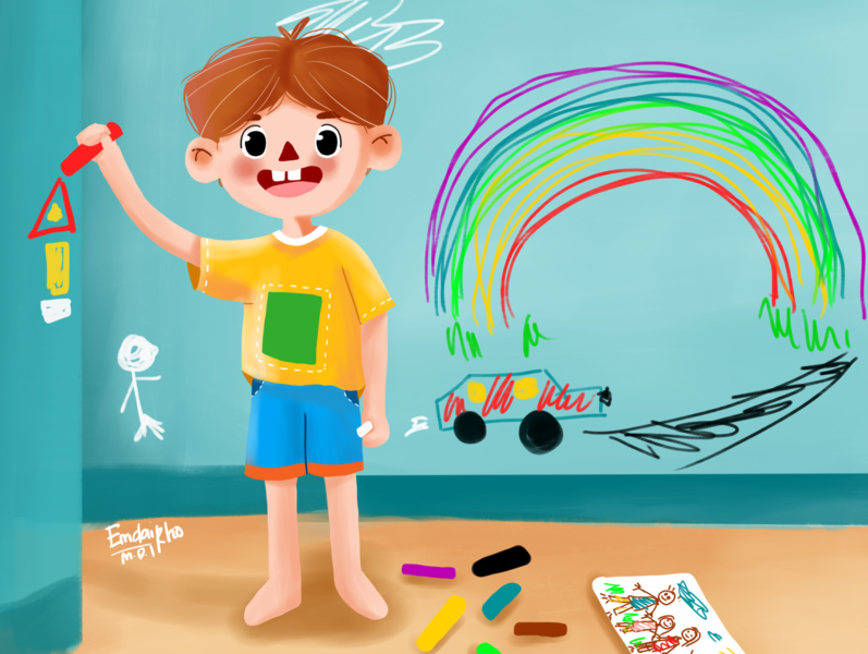 Let's draw draw digital drawing artwork cartoon dribble children book illustration illustration digital illustration digitalart