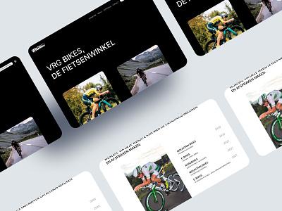Bicycle Shop Website Design grid layout white theme dark theme typography catalog scott static cycle bike shop bike cycling modern website design flat minimal web ux ui